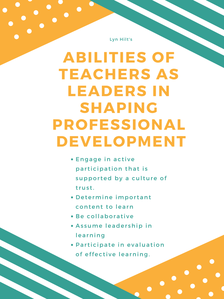 qualities of teacher experts in shaping professional development.
